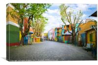 "The colourful ""Caminito"" in Buenos Aires , Canvas Print"