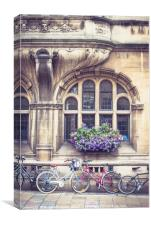 Bicycles in Oxford, Canvas Print