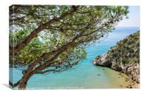 Mediterranean sea view, Canvas Print