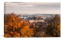 Prague in autumn, Canvas Print