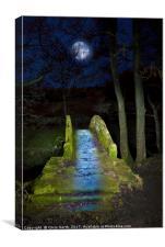 Packhorse Bridge, Blubberhouses, Yorkshire., Canvas Print