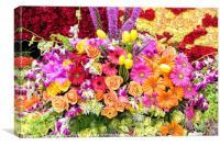 Assorted Flower Arrangement, Canvas Print