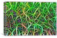 Abstract Image of Grass, Canvas Print