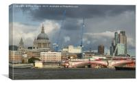Stormy skies over the city of London, Canvas Print