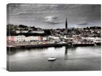 Cruising past Cobh in Ireland   , Canvas Print