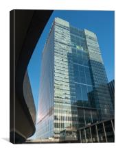 Barclays Tower in Canary Wharf, Canvas Print