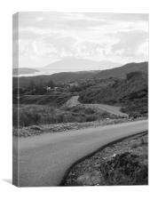 The Road to Heaste and the Isle Of Rum, Canvas Print