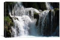 Natural waterfalls in Krka National park Croatia, Canvas Print