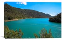 Emerald lake running through Krka National Park Cr, Canvas Print