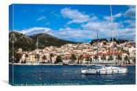 Hvar Island Coastline Croatia, Canvas Print