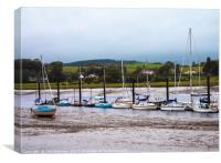 Fishing harbour in Kirkcudbright, Scotland, Canvas Print