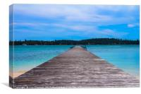 Wooden pier leading out to the sea, Canvas Print