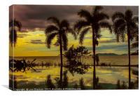 Tropical sunset, Canvas Print