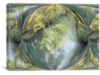 Branch over the river, Canvas Print
