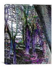 Haunted woods, Canvas Print