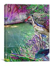 By the pond, Canvas Print