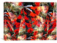 Abstract Poppies in the Field, Canvas Print