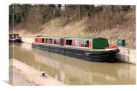 Narrow boat, Canvas Print