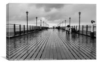 Rainy Pier, Canvas Print
