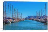 Puerto Pollensa Boats, Canvas Print