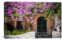 Puerto Pollensa, Pine Walk House, Canvas Print