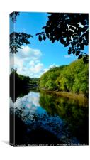 The River Wear, Canvas Print