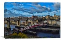 NewcastleTyne Swing Bridge, Canvas Print