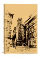 Tyne Bridge View from Queens Street, Canvas Print