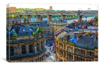 Newcastle In Colour , Canvas Print
