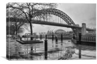 Newcastle Toon in Black and White, Canvas Print