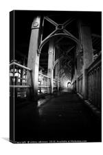 Newcastle in Black and White, Canvas Print