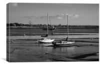 Heybridge Boats Tide Out, Canvas Print