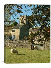 Burnsall Church, Yorkshire Dales National Park, Canvas Print