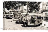 Tuk Tuks Lisbon, Canvas Print