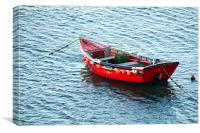 Red Fishing Boat, Canvas Print