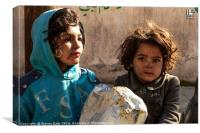Syrian children of the uprising, Canvas Print