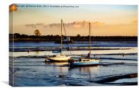 Waiting for the rising tide, Canvas Print