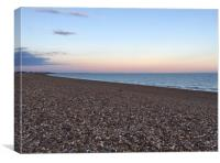 Hayling Island Pastel Coloured Sunset , Canvas Print