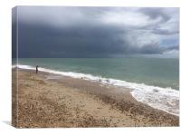 Hayling Island Storm Brewing, Canvas Print