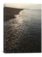 Hayling Island Sunrise Seashore, Canvas Print