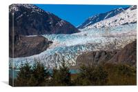The Mendenhall Glacier in Juneau, Alaska, Canvas Print