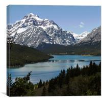 Saint Mary Lake Montana, Canvas Print
