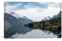 Lake McDonald with Forest and Mountain Reflections, Canvas Print