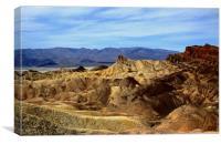 Zabriskie Point Looking Over To Death Valley , Canvas Print