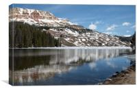 Reflections of  Forest and Mountain in Lake McDona, Canvas Print