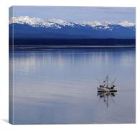 Fishing Boat in Alaska, Canvas Print