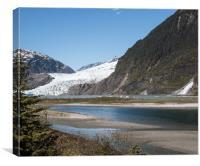 Mendenhall Lake near Juneau Alaska, Canvas Print