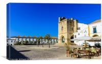 Main Church of The City of Faro - Algarve, Canvas Print