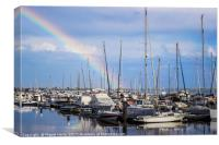 Rainbow over the Olhão Marina, Canvas Print