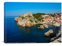 Dubrovnik Old Town City Walls , Canvas Print